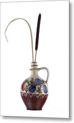 Reed In The Vase Metal Print by Michal Boubin