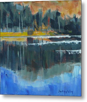 Metal Print featuring the painting Reflections by Jo Appleby