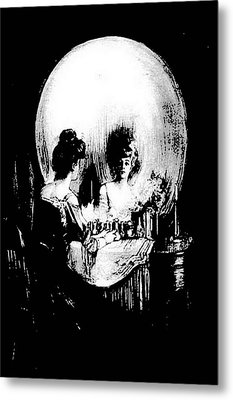 Reflections Of Death After Gilbert Metal Print by Tracey Harrington-Simpson