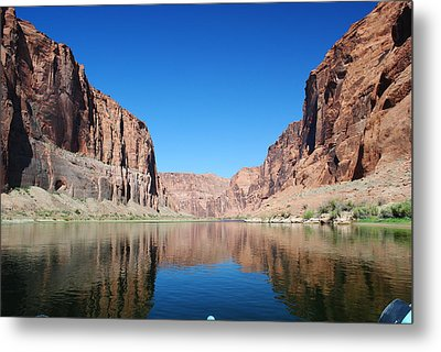 Reflections Of Glen Canyon Metal Print by Robert  Moss