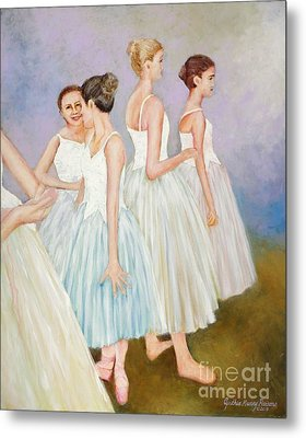 Metal Print featuring the painting Rehearsal by Cynthia Parsons