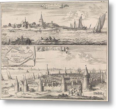 Reimerswaal In Past And Present Times, 1634 Metal Print by Jan Luyken And Johannes Meertens And Abraham Van Someren