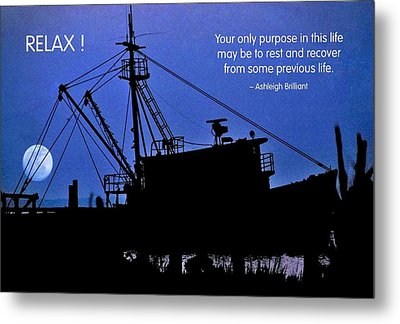 Relax Metal Print by Mike Flynn
