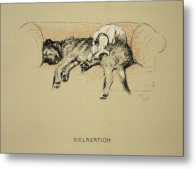Relaxation, 1930, 1st Edition Metal Print