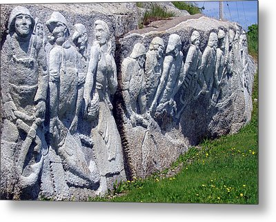 Relief Sculpture At Peggy's Cove Metal Print by Brenda Anne Foskett