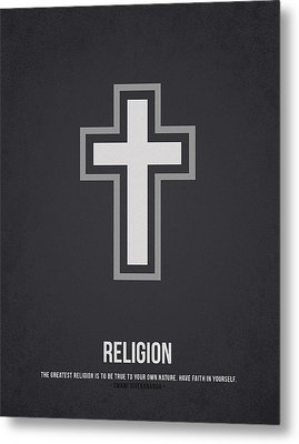 Religion Metal Print by Aged Pixel
