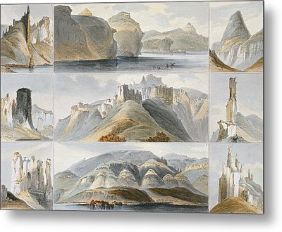 Remarkable Hills On The Upper Missouri Metal Print by Karl Bodmer