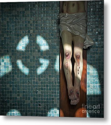 Metal Print featuring the photograph Remembrance Inri by Michel Verhoef
