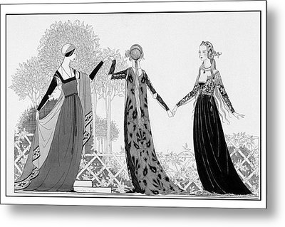 Renaissance Italy Style Models Metal Print by Claire Avery