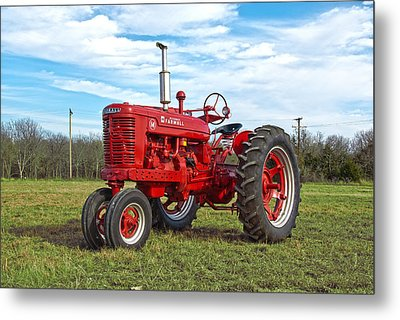 Restored Farmall Tractor Metal Print by Charles Beeler