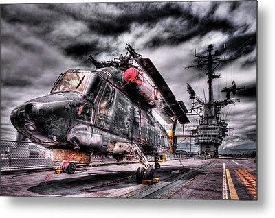 Retired Pilot Metal Print