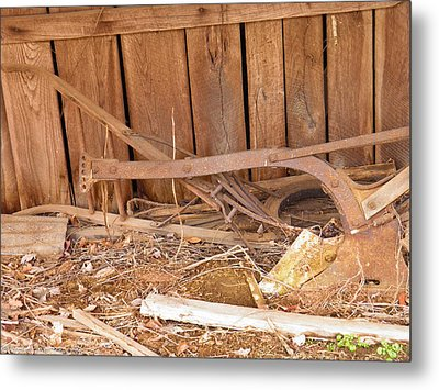 Metal Print featuring the photograph Retired Tools by Nick Kirby
