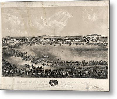 Review Of The Mass. Volunteer Militia, At Concord Metal Print