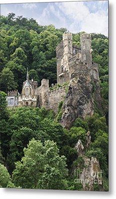 Rheinstein Castle Metal Print by Oscar Gutierrez
