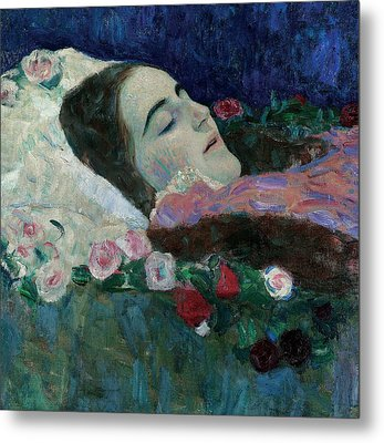 Ria Munk On Her Deathbed Metal Print