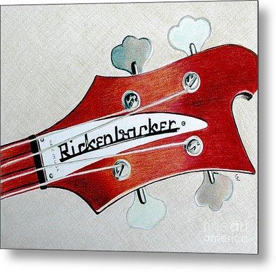 Rickenbacker Metal Print by Glenda Zuckerman