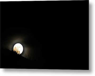 Metal Print featuring the photograph Rising Moon by Joel Loftus