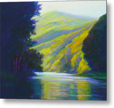 River Bend Metal Print by Ed Chesnovitch