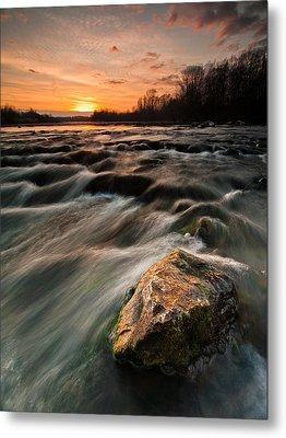River Sunset Metal Print by Davorin Mance