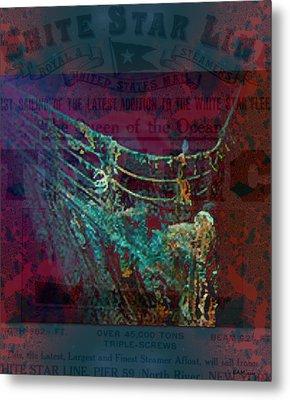 Rms Titanic Sinks  Metal Print by Elizabeth McTaggart
