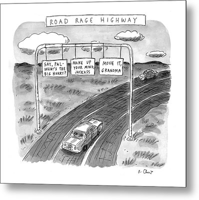 'road Rage Highway' Metal Print