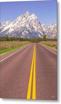Road To The Tetons Metal Print