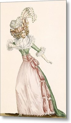 Robe De La Czarine, Plate From Galeries Metal Print