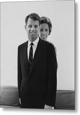 Robert F Kennedy And Wife Ethel Metal Print by Cecil Beaton