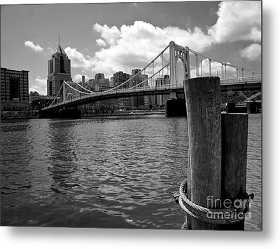 Roberto Clemente Bridge Pittsburgh Metal Print by Amy Cicconi