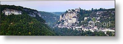 Rocamadour Midi Pyrenees France Panorama Metal Print by Colin and Linda McKie