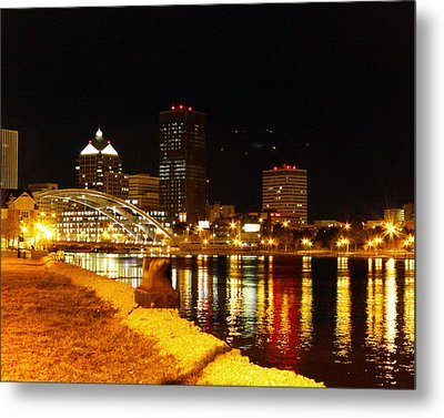Rochester At Night Metal Print