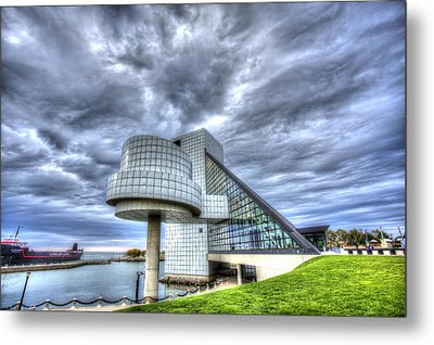 Rock And Roll Hall Of Fame Metal Print by Shawn Everhart