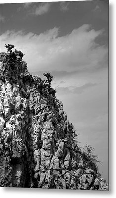 Metal Print featuring the photograph Rock Face At St. Hillarion by Jim Vance