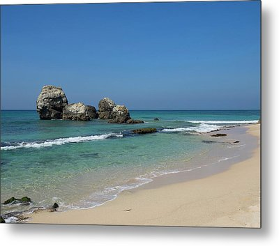 Rocks Along Beach, A2 Road, North Metal Print by Panoramic Images