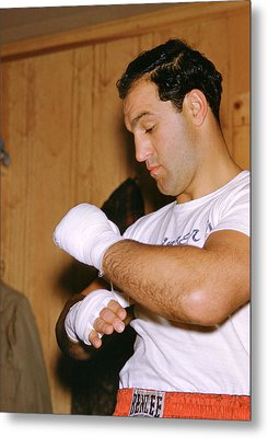 Rocky Marciano Getting Ready Metal Print by Retro Images Archive