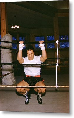 Rocky Marciano Stretching Metal Print by Retro Images Archive