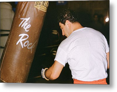 Rocky Marciano Vs. Heavy Bag Metal Print by Retro Images Archive