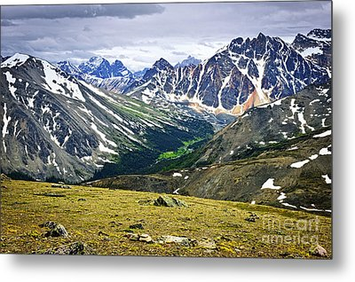 Rocky Mountains In Jasper National Park Metal Print by Elena Elisseeva