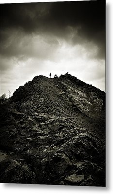Rocky Pathway To Scotland Metal Print by Lenny Carter