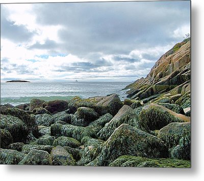 Metal Print featuring the photograph Rocky Sand Beach by Gene Cyr