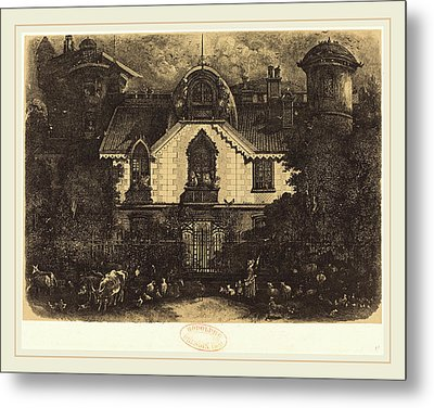 Rodolphe Bresdin French, 1822-1885, La Maison Enchantée Metal Print by Litz Collection