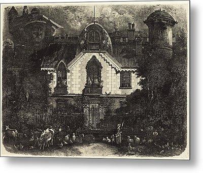 Rodolphe Bresdin French, 1822 - 1885, The Haunted House Metal Print by Quint Lox