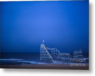 Roller Coaster Stars Metal Print by Michael Ver Sprill