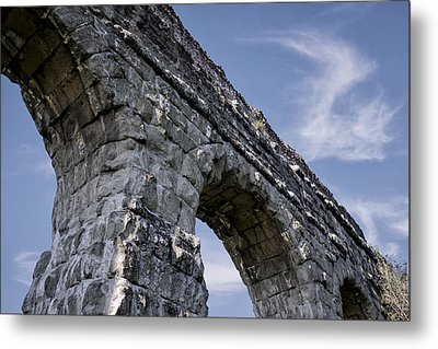 Roman Aqueducts II Metal Print by Joan Carroll