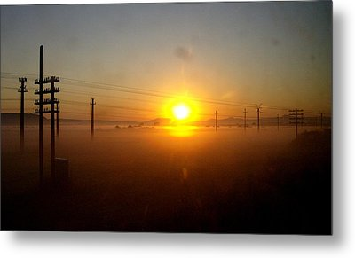 Metal Print featuring the photograph Romanian Sunset by Giuseppe Epifani
