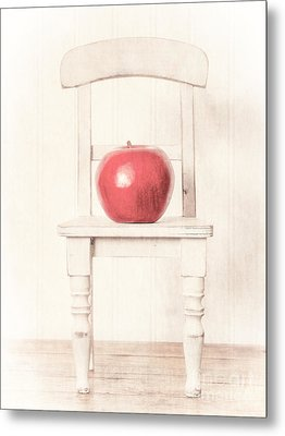 Romantic Apple Still Life Metal Print