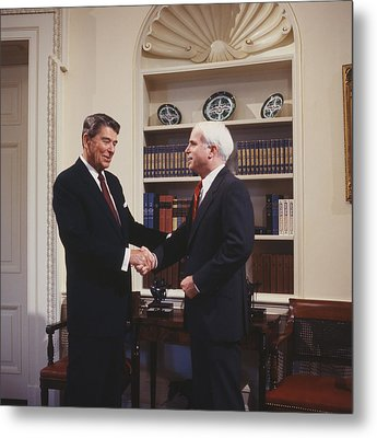 Ronald Reagan And John Mccain Metal Print by Carol Highsmith