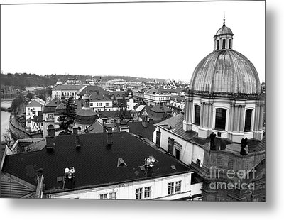 Rooftop View In Praha Metal Print by John Rizzuto