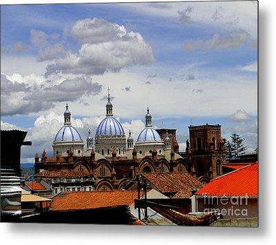 Rooftops Of Cuenca Metal Print by Al Bourassa