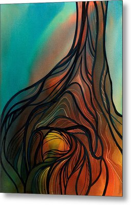 Roots Of Tree By Clark Lake Metal Print